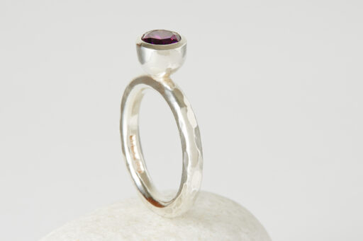 Solitaire Stacking ring - Large stone
