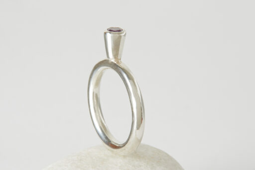 Solitaire stacking ring - Small stone