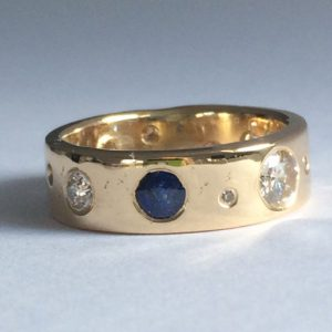 April Doubleday memorial ash ring made from a loved ones jewellery and ashes